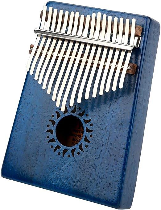 17 Keys Kalimba Thumb Piano Portable Wooden Kalimba Thumb Finger Piano 17Key Decoration Instrument Toy Wood Kalimba black
