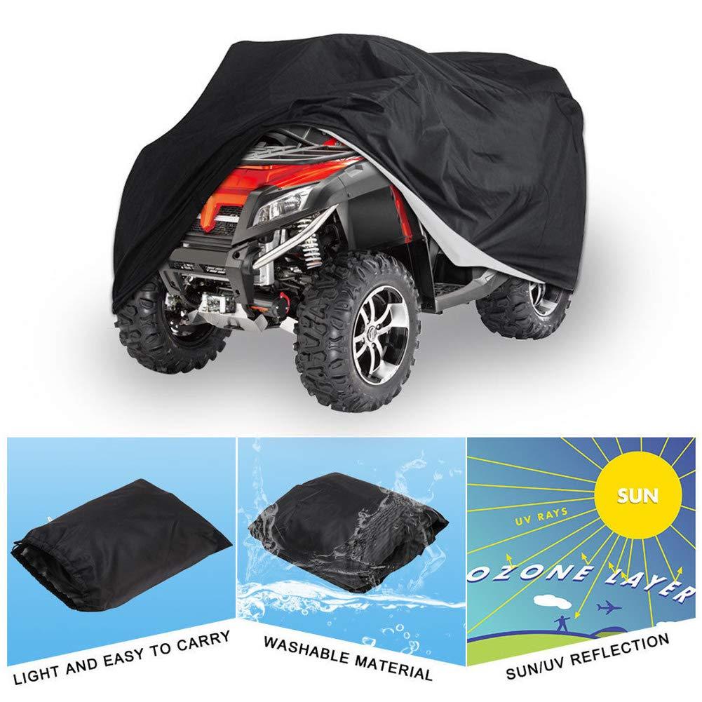 Resistente y Tear Prueba Impermeable Funda Motocicleta Scooter Motocicleta Moto Quad Protecci/ón contra el Polvo para la Mayor/ía Atv Veh/ículo M All Weather Exterior Protecci/ón