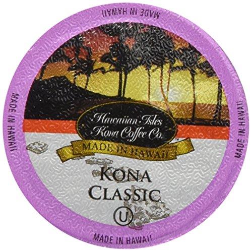 Kona Classic 80 Pack Hawaiian Isles Kona Coffee Single Serve Cups for Keurig Brewers
