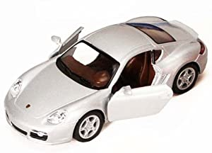 Kinsmart Porsche Cayman S, Silver 5307D - 1/34 Scale Diecast Model Toy Car, but NO Box