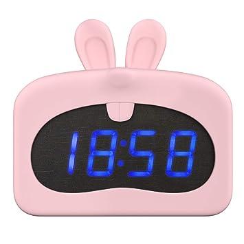 Amazon.com: MoKo Kids Alarm Clock, Cute Animal Wake-up Alarm ...