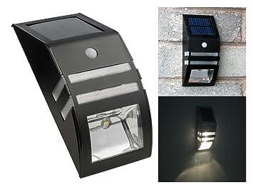 Negro al aire libre LED Sensor de movimiento Solar Sensor de movimiento de seguridad lámpara de