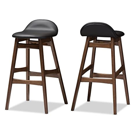 Amazon.com: baxton studio Bloom 30 en. Taburete de bar de ...