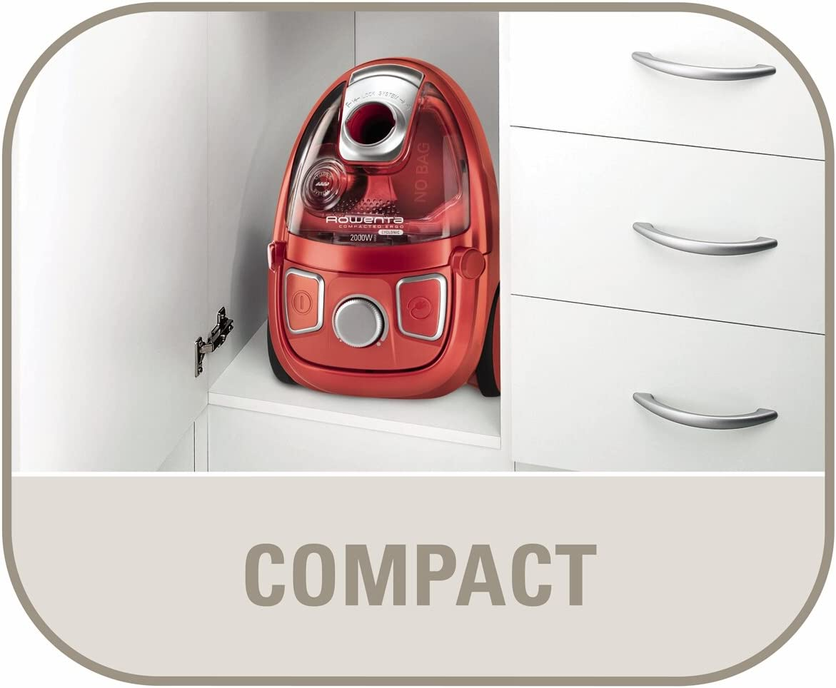 Rowenta Compacteo - Aspiradora sin bolsa, 2000 W, 28 kPa: Amazon ...