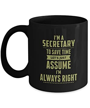 Motivational Family Jobs gifts mug For Men, Women- SECRETARY Always ...