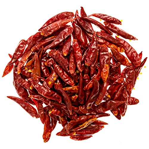 (Soeos Szechuan Dried Chili,Dry Szechuan Pepper, Dry Chile Peppers, Sichuan Pepper, Dried Red Chilies, 4oz, (Very Mild Spicy))