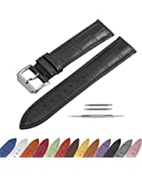 SIMCOLOR Leather Watch Band - Choice of Color & Width (16mm,18mm,20mm,22mm or24mm) Premium Genuine Cowhide Replacement Watch Strap