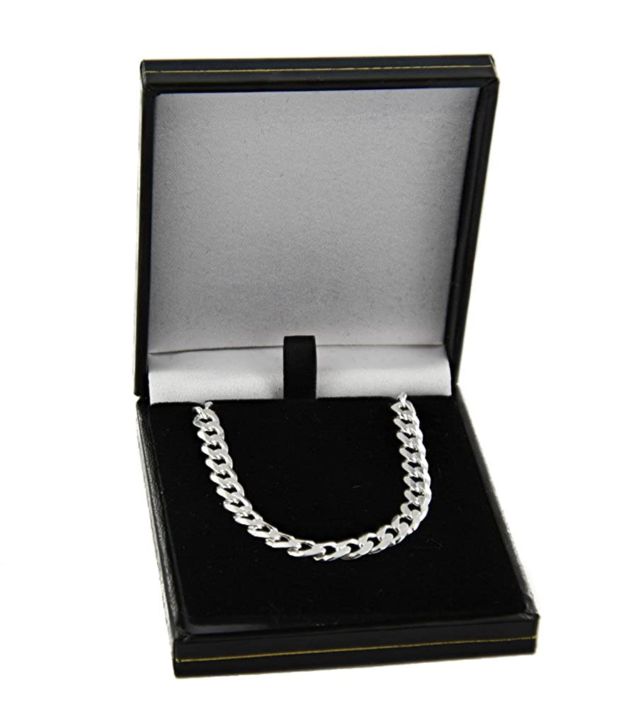 22 and 24 inches long Sterling Silver Curb Chain In A Gift Box 16 18 14 20