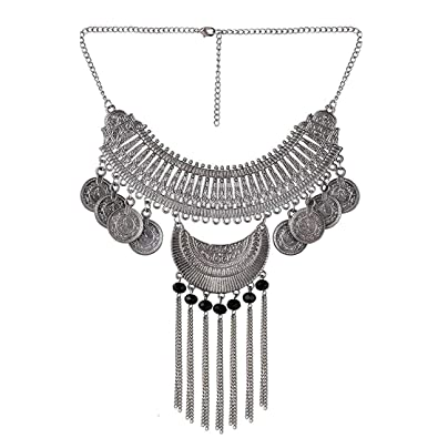 a1b177515 Buy Sparkle Afghani Turkish Style Vintage Oxidised German Silver Tribal  Jhumki Necklace Jewellery Set for Women Online at Low Prices in India |  Amazon ...