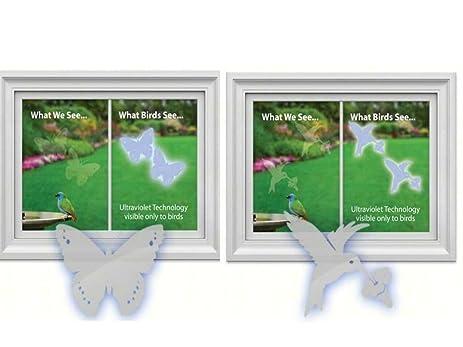 Amazoncom Window Alert Hummingbird Decals And Butterfly Decals - Window alert hummingbird decals amazon