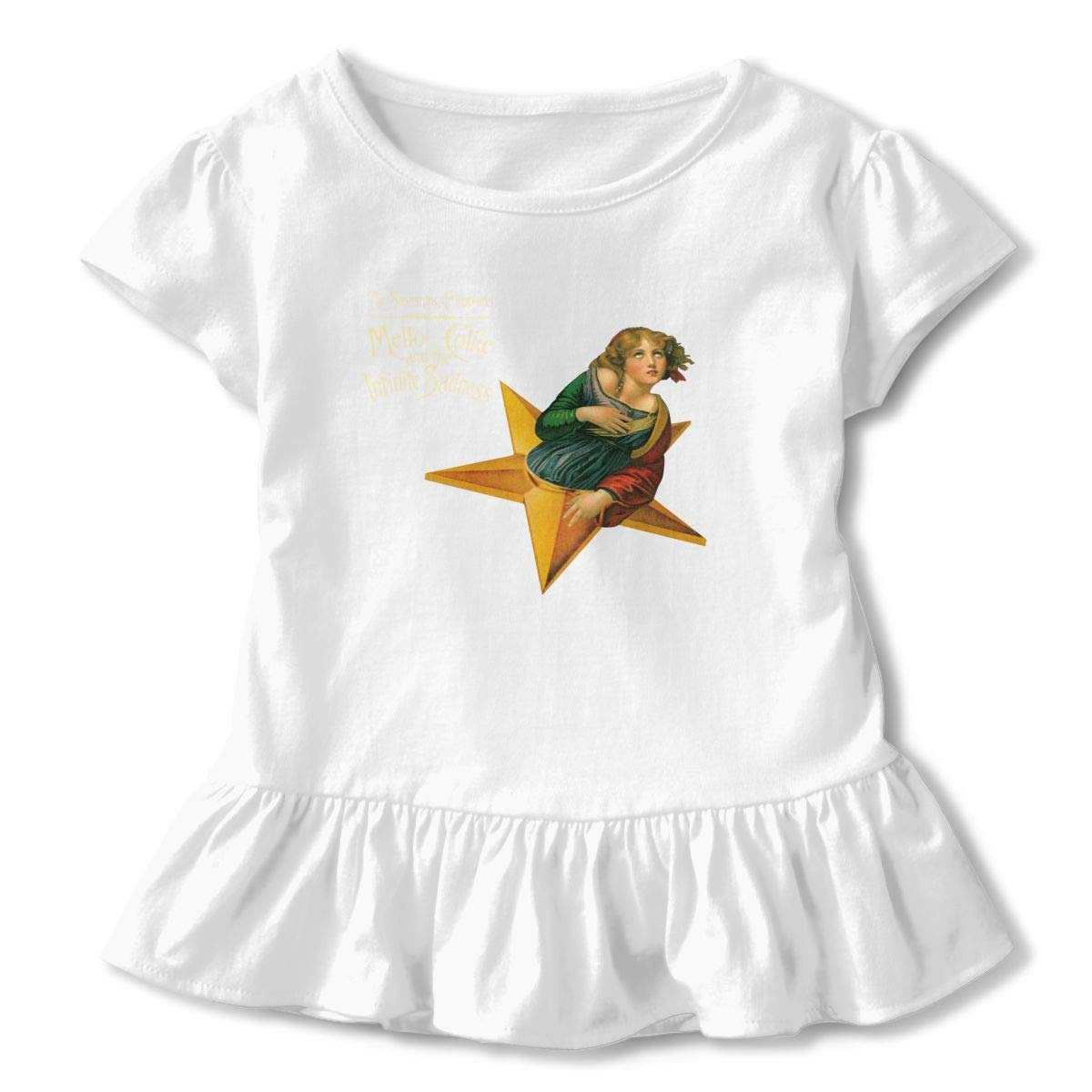 Kid T Shirt Smashing Pumpkins Music Band 3D Tee Baseball Ruffle Short Sleeve Cotton Shirts Top for Girls Kids