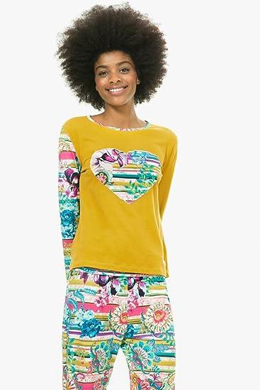 Desigual Alto de pijama Ls Pasiley Bloom NC: Amazon.es: Ropa y accesorios