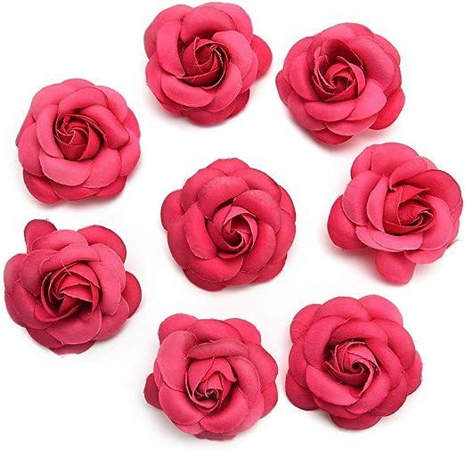 Decor Candy Box Rose Flower Head Bouquet Silk Artificial Flowers Tea Bud