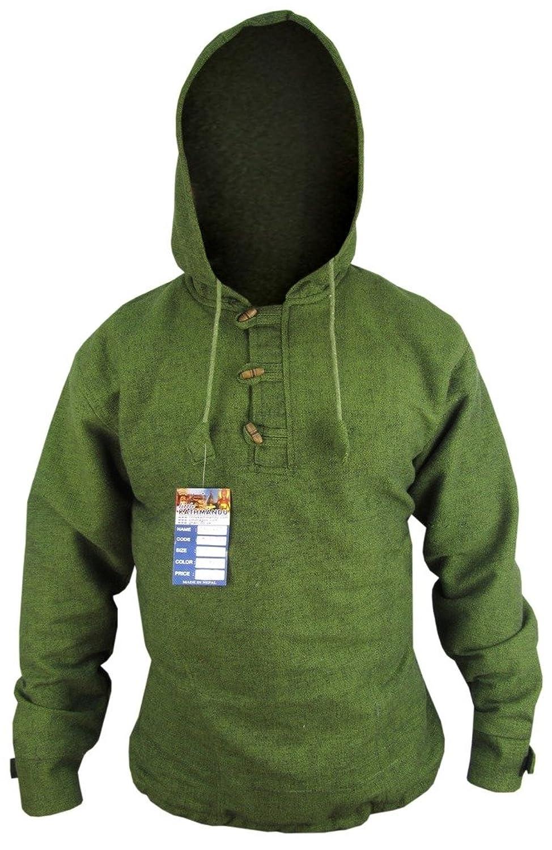 Little Kathmandu Baumwolle Fleece Gefüttert 3 Taste Warm Winter Jacken Hoodie Jumper Kapuzenpullover