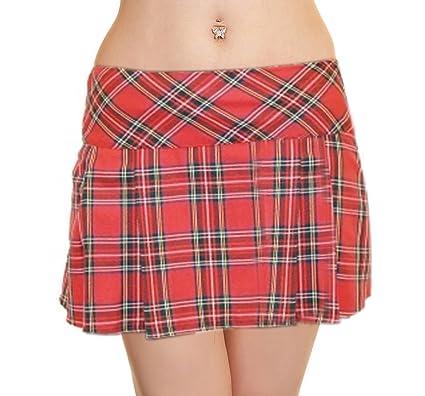 CRAZY CHICK Falda de tartán Plisada Sexy para Mujer de 14 Pulgadas ...