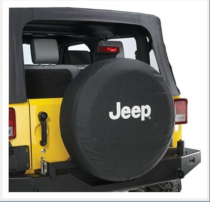 Jucarvo Rueda de repuesto Neumático Neumático Funda Cubierta Protector 17inch PVC Negro con Logotipo Spare Wheel Tire Protector Cover: Amazon.es: Coche y ...