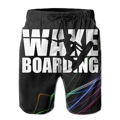 53e4b4a31a STLYESHORTS Wakeboarding Wakeboarder Men's Board Shorts Swim Trunks  Beachwear Surf Board Beach Home Swim Shorts Black