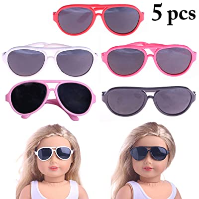 B bangcool 5 Pairs Doll Glasses Creative Doll Accessories Doll Eyeglasses for 18in Doll: Everything Else