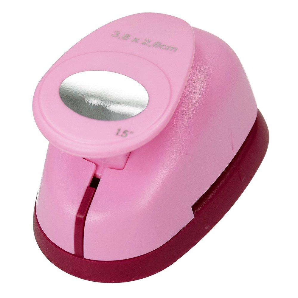 efco Perforatrice Ovale di Grandi Dimensioni Rosa 38/x 28/mm Colore