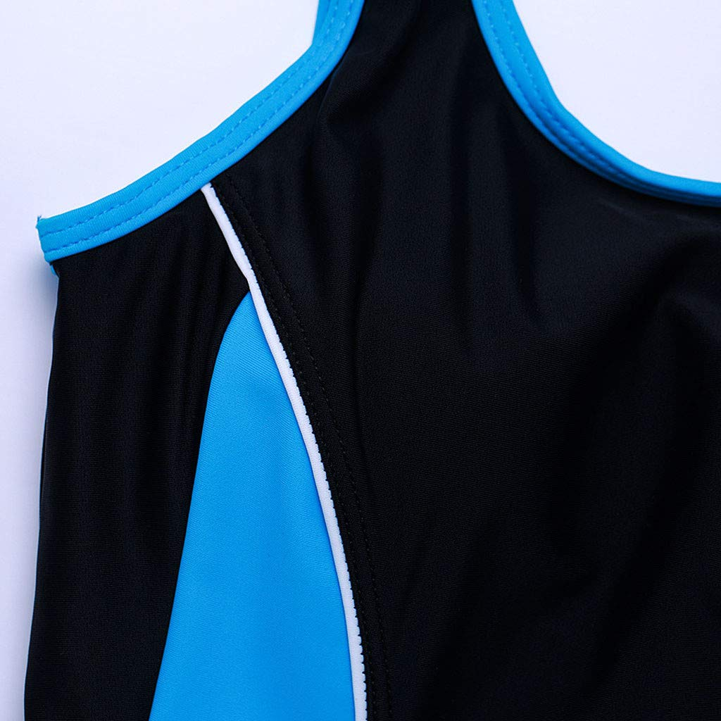 Allywit Woman One Piece Short Sleeve Snorkeling Surfing Swim Suit 2mm Neoprene Conjoined Diving Suit Thin Wetsuit New Sky Blue by Allywit (Image #5)