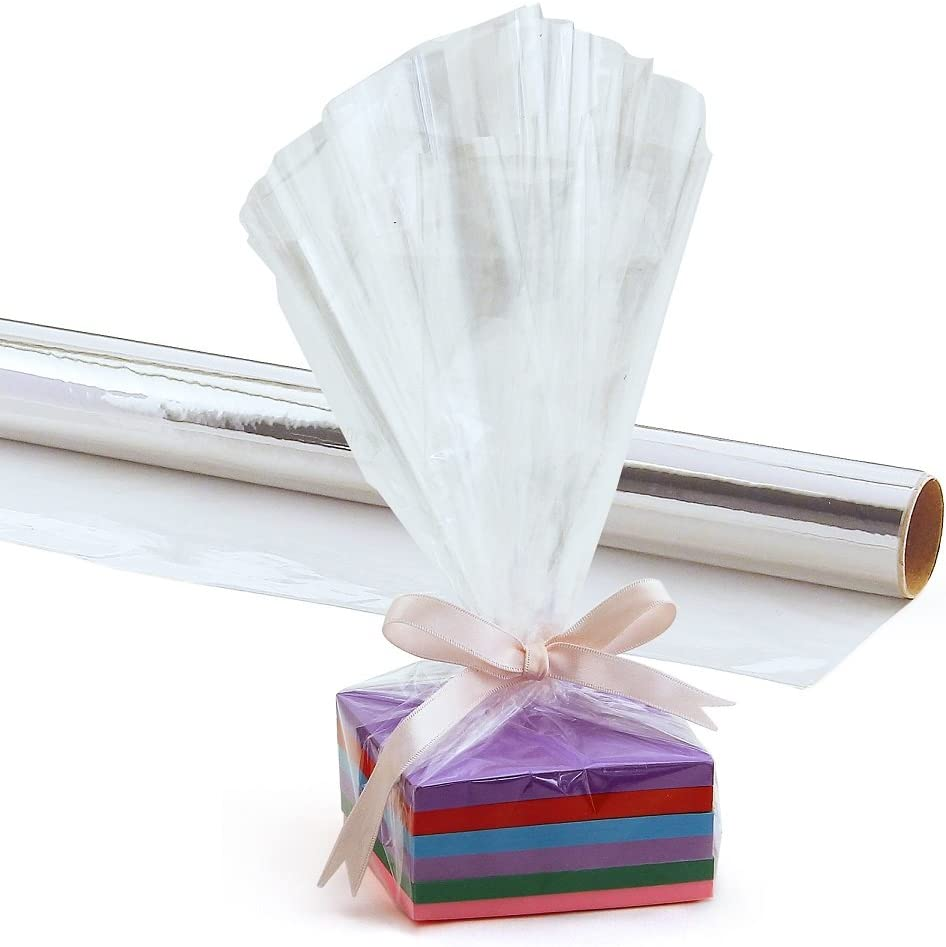 Cellophane Wrap for Crafts and Baskets 20 Inch x 12.5 Feet Gifts Hygloss Products Cellophane Roll Red