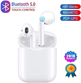 Auriculares Bluetooth Auriculares inal/ámbricos 5.0 Auriculares Bluetooth en Oreja Auricular Est/éreo inal/ámbrico en Oreja Manos Libres para Android//Samsung//iPhone//Apple Airpods Pro