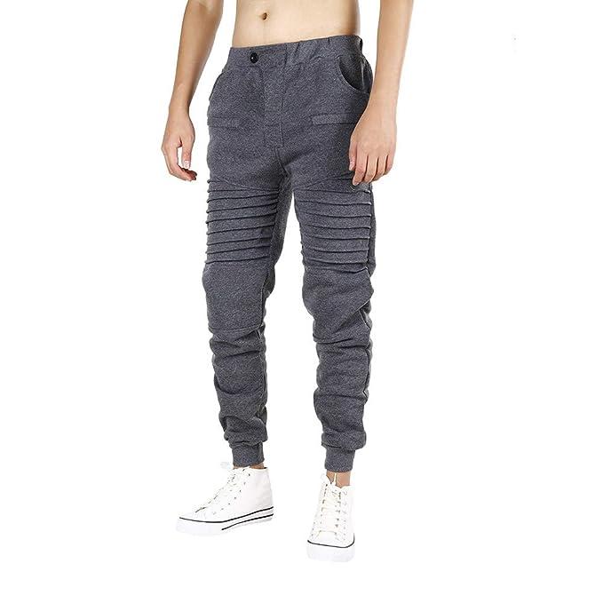 2fcd6a78766420 LiucheHD-Pantaloni Da Jogging da Uomo Slim Fit Home Pantaloni Sportivi da  Pantalone Hip Hop Sport Casual Jogging Polsino Tasche Laterale: Amazon.it:  ...
