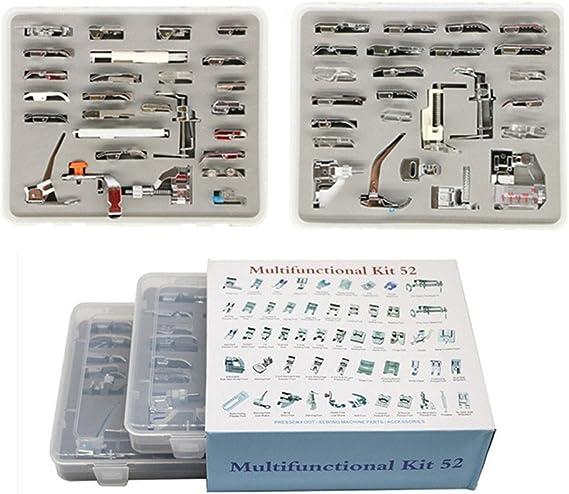 YEQIN - Juego de 52 prensatelas para máquina de coser doméstica ...