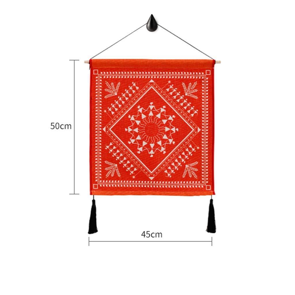 Decorazione Decorativa della Parete della Tela Cerata della Pittura della tappezzeria guarnita tricottata Ampia 45CM Alto 50CM LIMING-arazzo Tapestry Colore : E