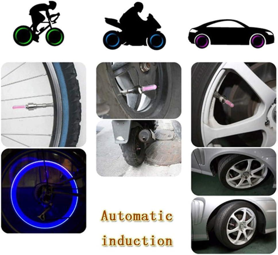 Keyohome 2 St/ück LED Fahrradventillampe,Speichen Licht,Radventil-Radkappen-Lichtset,f/ür Auto Fahrrad Fahrrad Motorrad