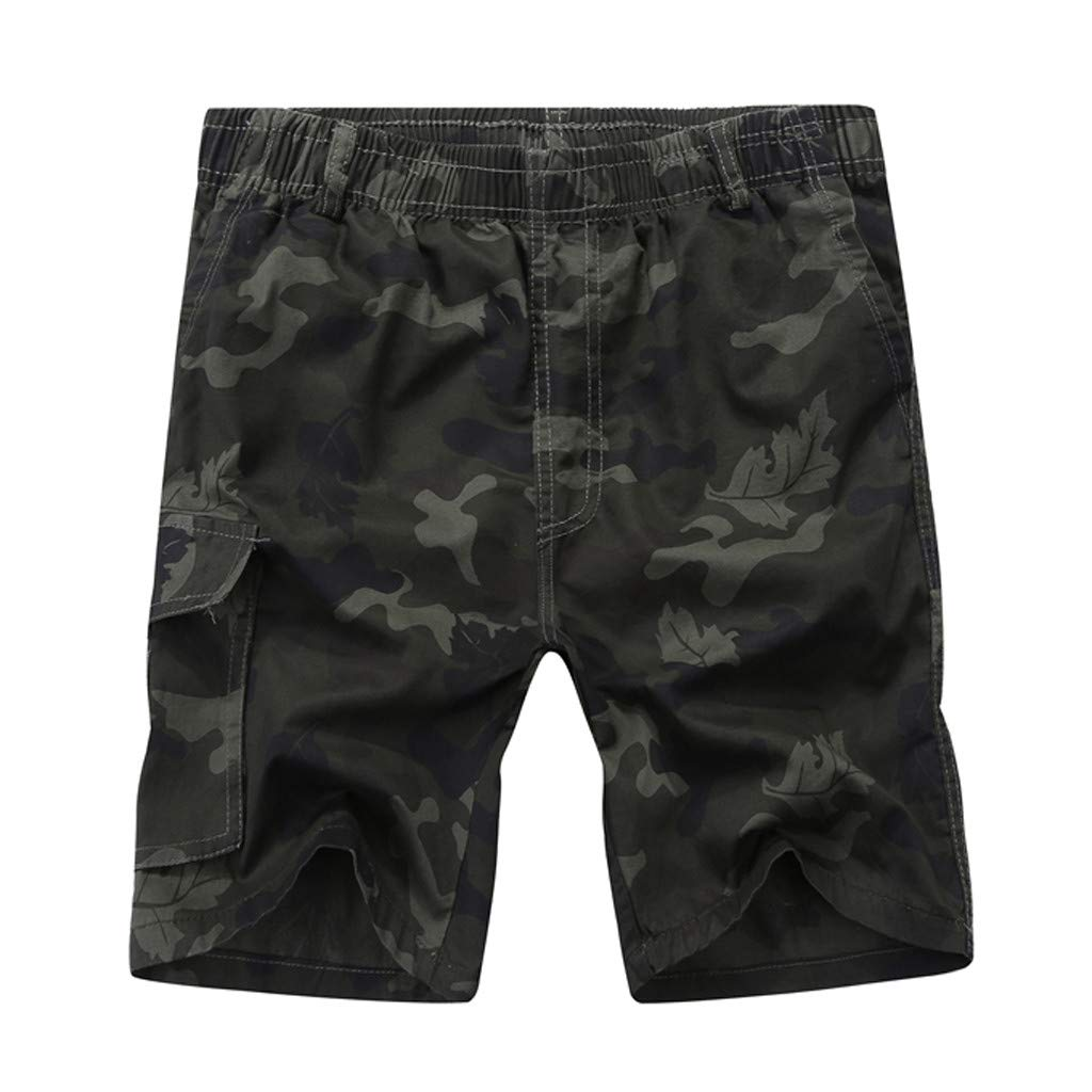 Sports Pants Gym Cargo Beach Shorts Mens Summer Outdoors Casual Loose Camouflage Patchwork Overalls Shorts Pants