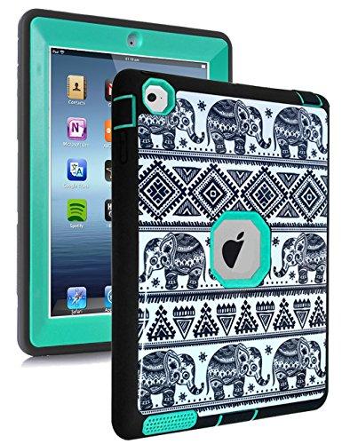 TOPSKY iPad 2 Case,iPad 4 Case, Thailand Elephant Tribe Patt