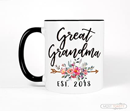 Personalized Great Grandma Gift For Coffee Mug New