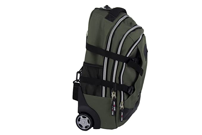 Backpack man PRO-DG travel bag free time with trolley green M277T:  Amazon.ca: Clothing & Accessories