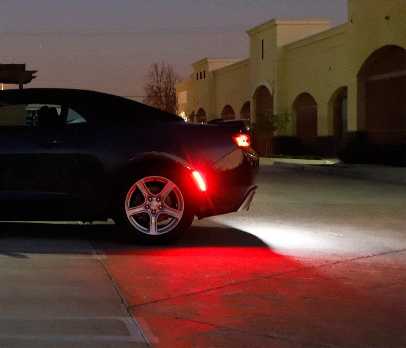 Powered by 50-SMD LED Pack of 2 Replace OEM Back Sidemarker Lamps Neeknn Smoked Lens Red Full LED Rear Side Marker Light Kit Compatible With 2015-up Dodge Charger