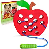 Playahoy Apple Lacing Plastic Threading Toy Fun Learning Game for Kids l Builds Basic Life Skills l Great Airplane Car…