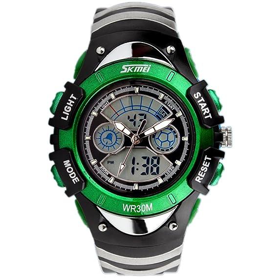 amstt Unisex Deportes Niños Relojes Niño Niña digital impermeable alarma reloj de pulsera para el Edad 7 - 15 Años Niños (): Amazon.es: Relojes