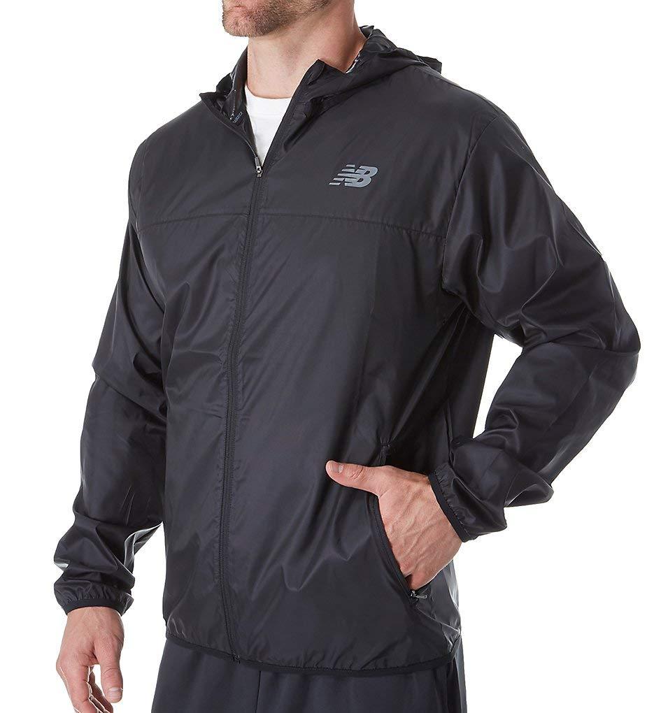 New Balance Men's Windcheater Jacket, Black, Medium