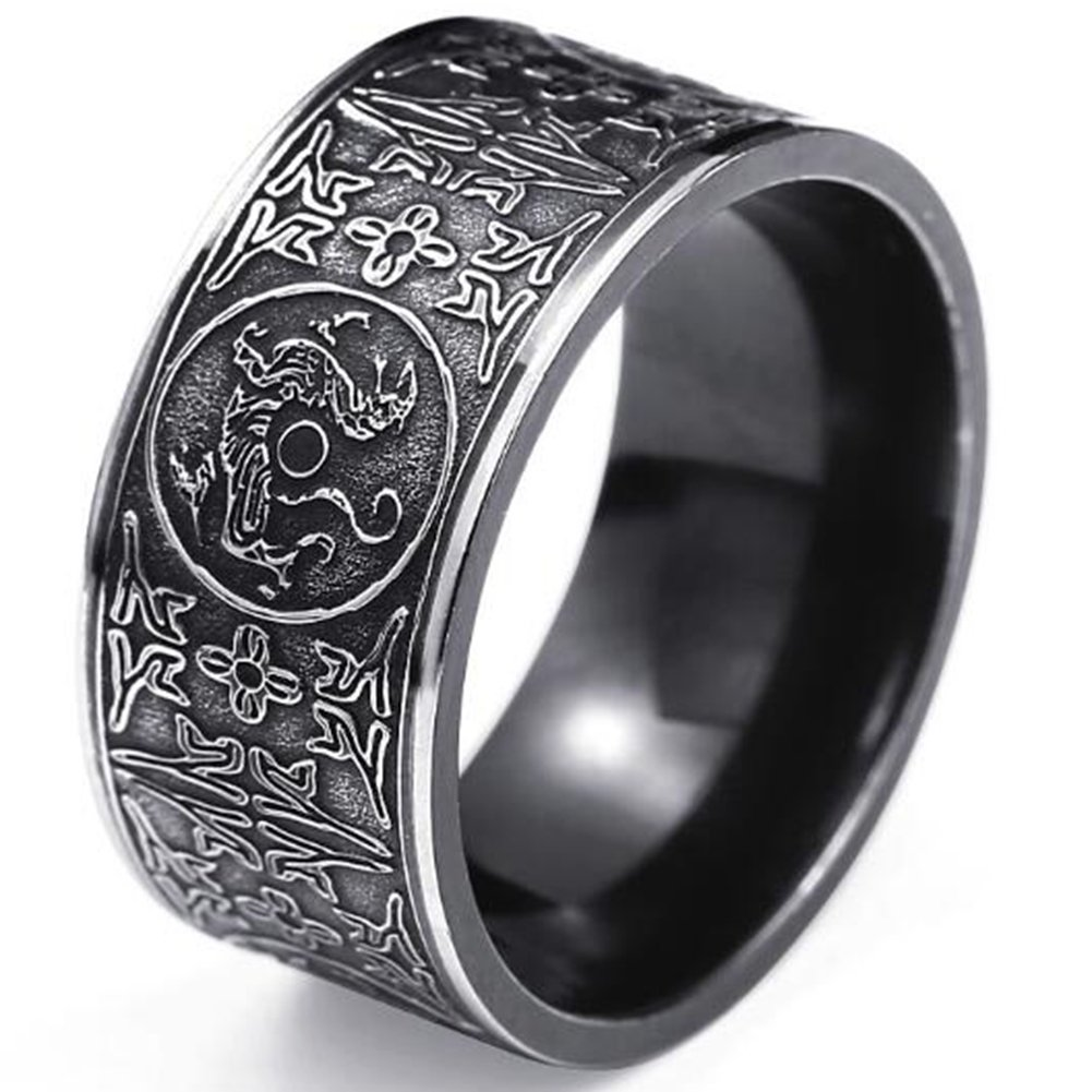 Jude Jewelers Stainless Steel Chinese Traditional Ancient Guardian Best Ring Wedding Bandamazon: Ancient Christian Wedding Rings At Reisefeber.org