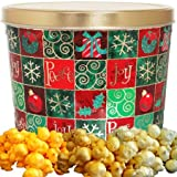 Holiday Checkers Popcorn Gift Tin Small