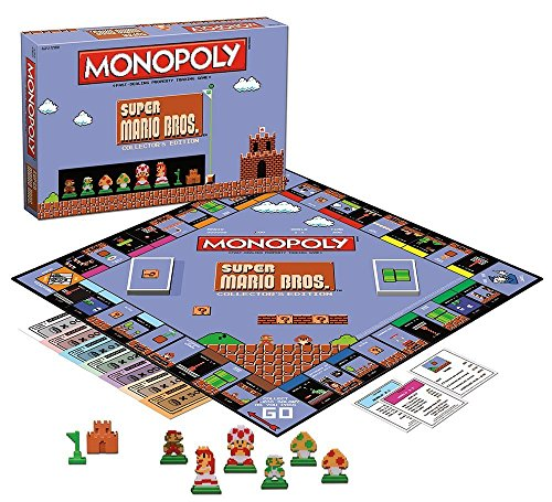 Monopoly: Super Mario Bros Collector's Edition Board Game (Super Mario Bros Classic)