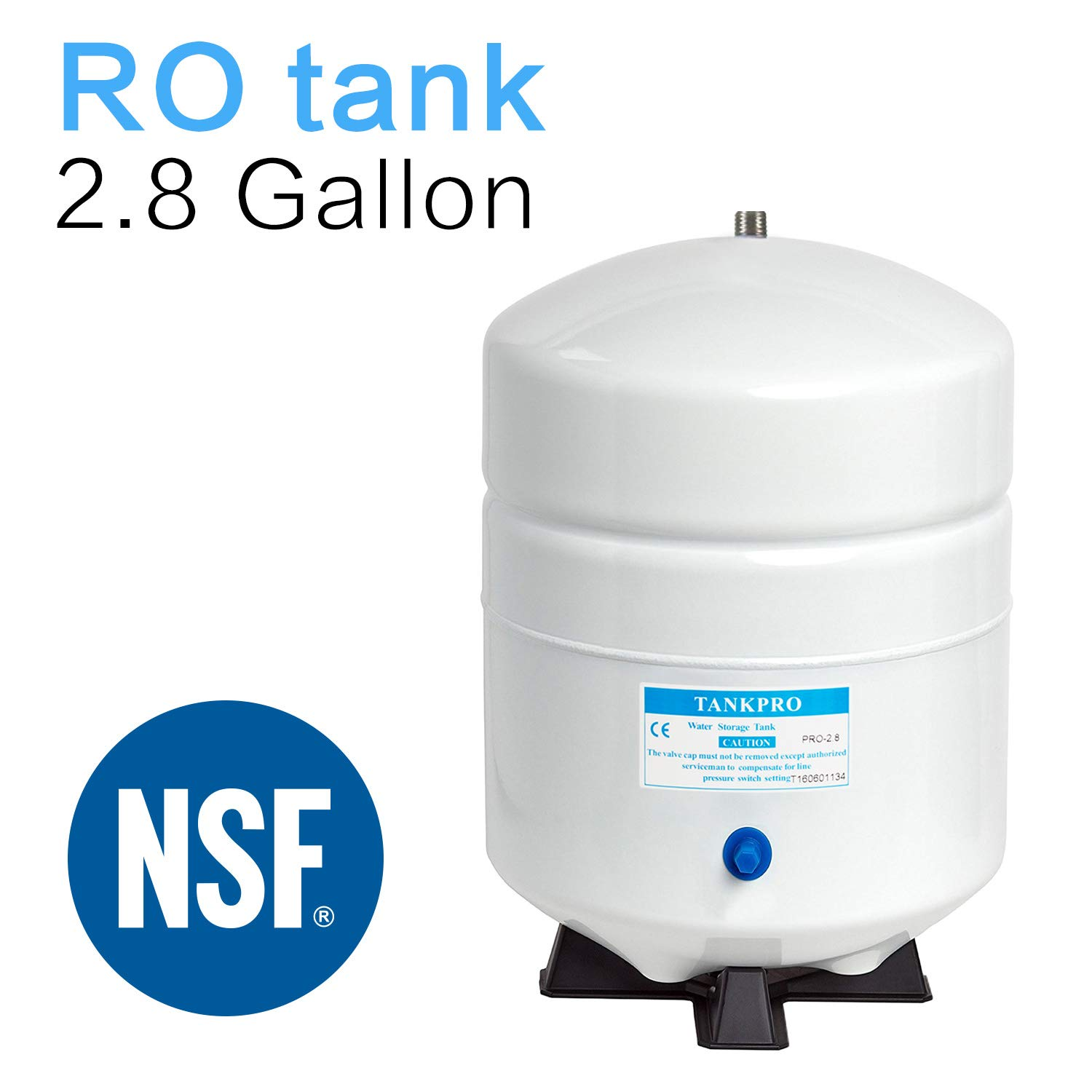 2.8 Gallon RO Water Storage Tank for Reverse Osmosis Systems -NSF Certificated by Geekpure