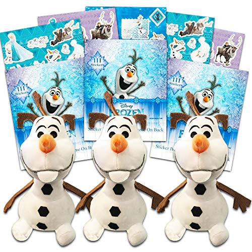 Frozen Olaf Party Favors Pack -- Set of 3 Stuffed Plush Olaf Toys, 8