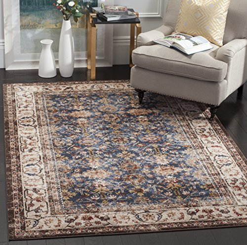 Safavieh Bijar Collection BIJ650B Traditional Oriental Vintage Royal Blue and Ivory Area Rug (9′ x 12′)
