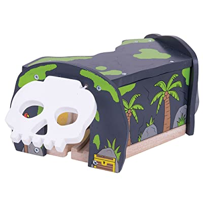 Bigjigs Rail Wooden Railway Skull Cave for Train Set: Toys & Games