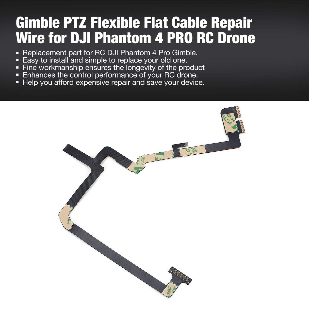 Dailyinshop Cable de reparación de Cable Plano Flexible Gimble PTZ ...