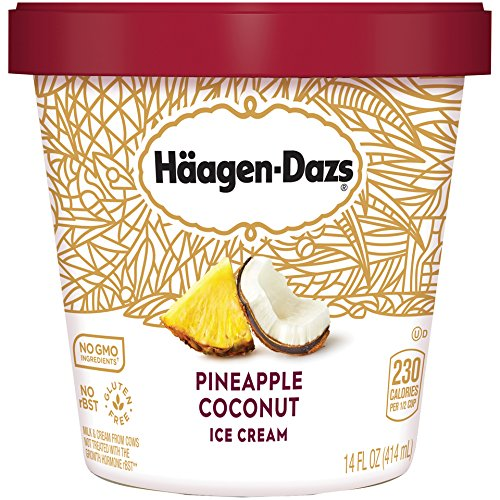 Haagen-Dazs, Pineapple Coconut Ice Cream, Pint (8 (Pineapple Ice Cream)