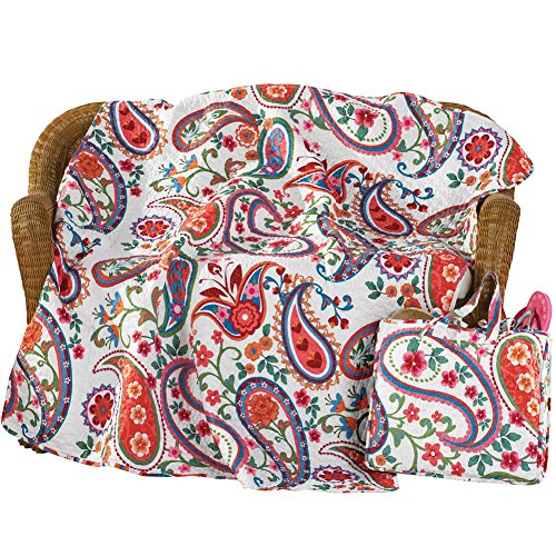 Colorful Paisley Floral Blanket Polyester