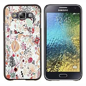 LECELL--Funda protectora / Cubierta / Piel For Samsung Galaxy E5 E500 -- Pájaros del arte abstracto detallado --