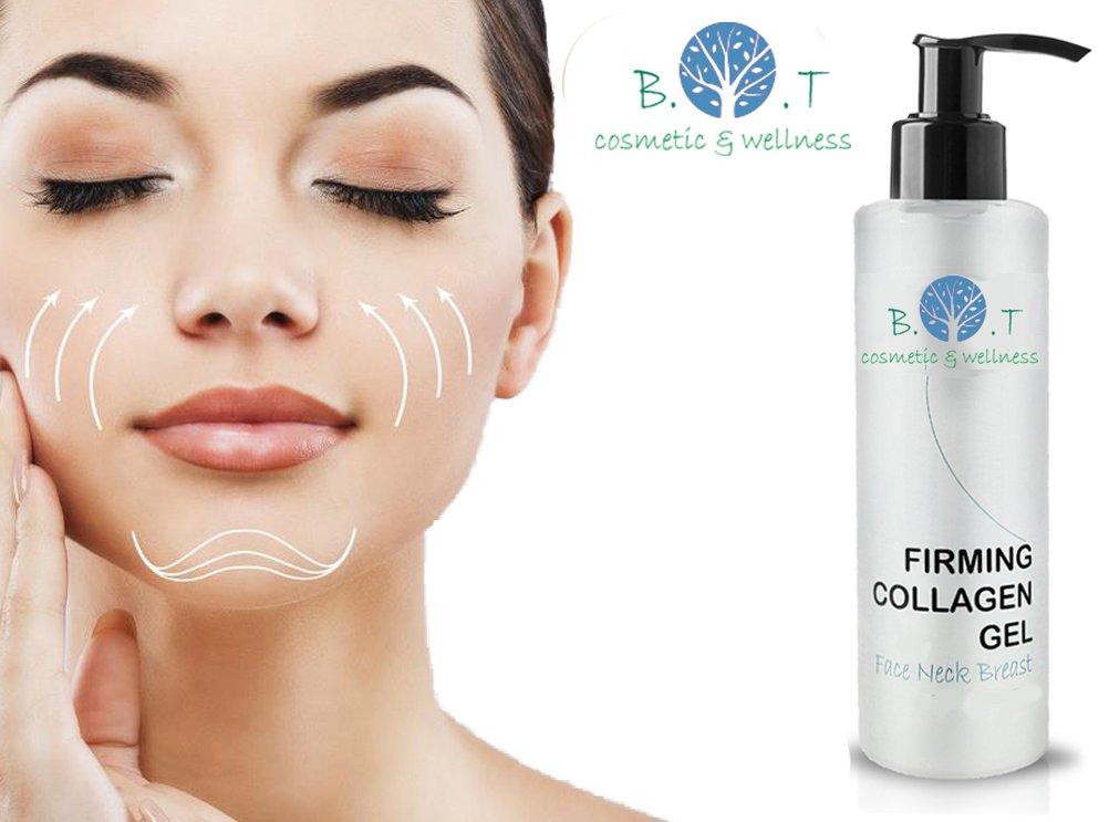 Gel de Colágeno bioactivo Gel de rostro, cuello y escote - Gel Natural Anti-envejecimiento para reducir las arrugas, líneas finas y reparación de la Piel ...